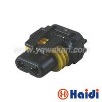 Darmowa wysyłka 5 zestawów 2pin HID elektryczny wodoodporny auto złącze do wiązki kabli kobiet DJ9005 w Złącza od Lampy i oświetlenie na