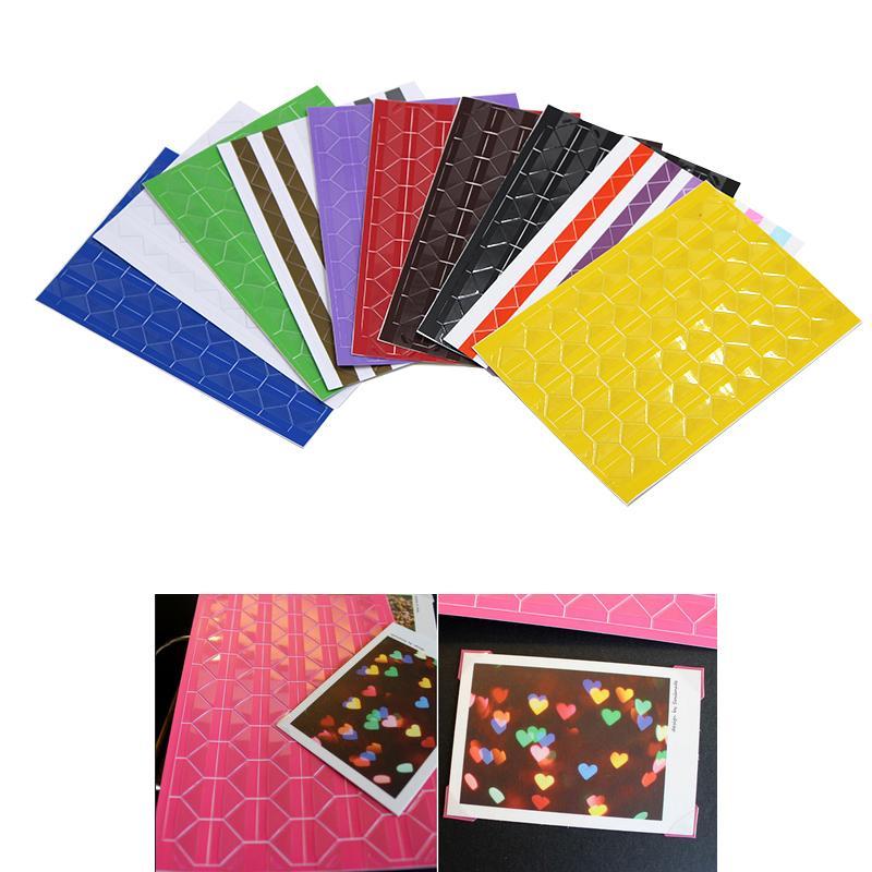 DIY Photo Album Scrapbook Corner Sticker PVC Colorful Paper Corner Stickers Frame Picture Decoration 1Sheet=102Pcs