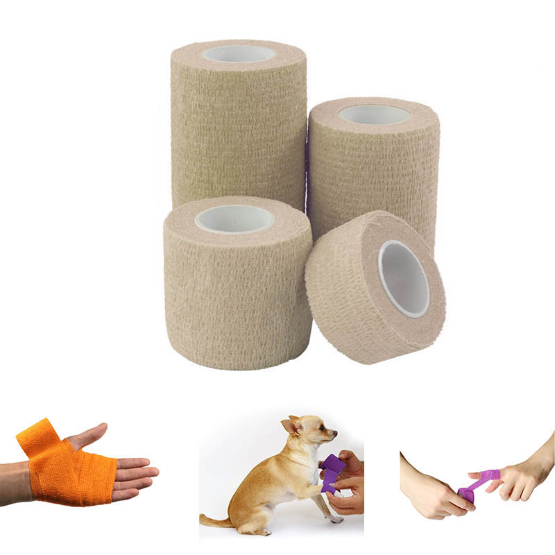 Elastoplast Adhesive Bandages Elastic Wrap Cohesive Sports Bandage Tape 1Pcs Waterproof  Medical Trauma Bandage For Dogs Horses