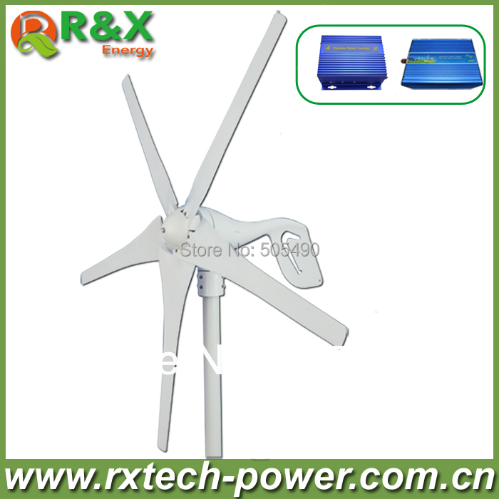 400W wind turbine generator, 12V/24V optional wind generation+wind/solar hybrid controller+600w off grid pure sine wave inverter 400w wind generator new brand wind turbine come with wind controller 600w off grid pure sine wave inverter