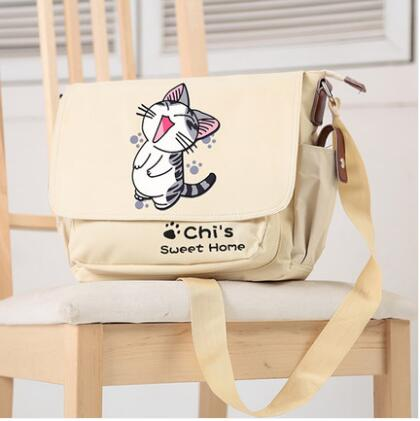 Anime chi's sweet home  Cosplay  Student campus men and women casual fashion shoulder bag Messenger bag birthday gift