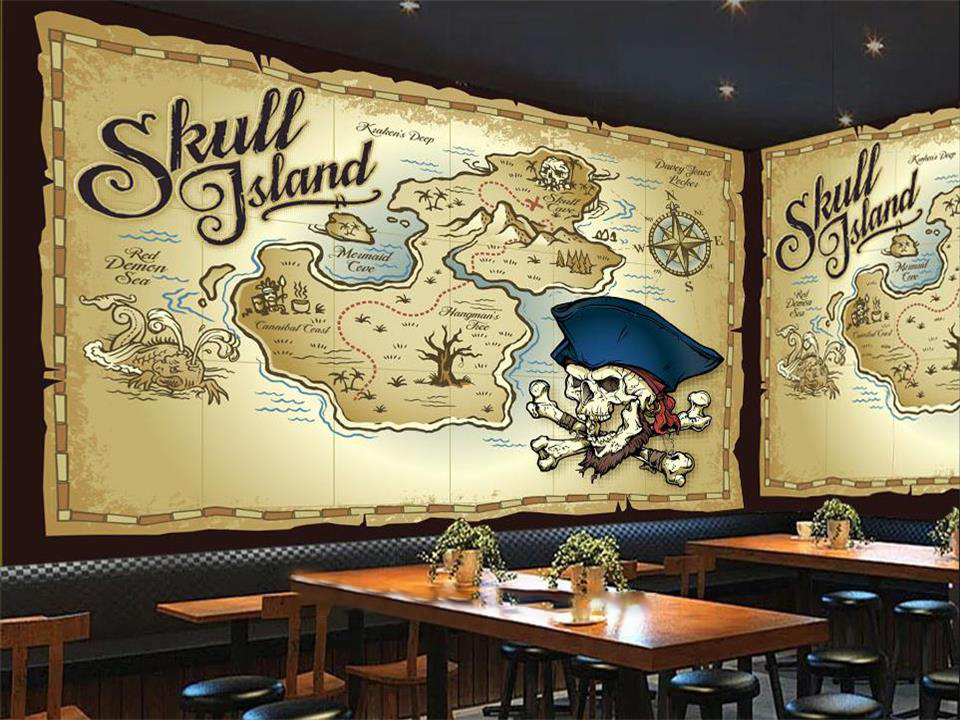 3d photo wallpaper custom living room kids mural pirate map bar sofa TV background wall painting non-woven wallpaper for wall 3d