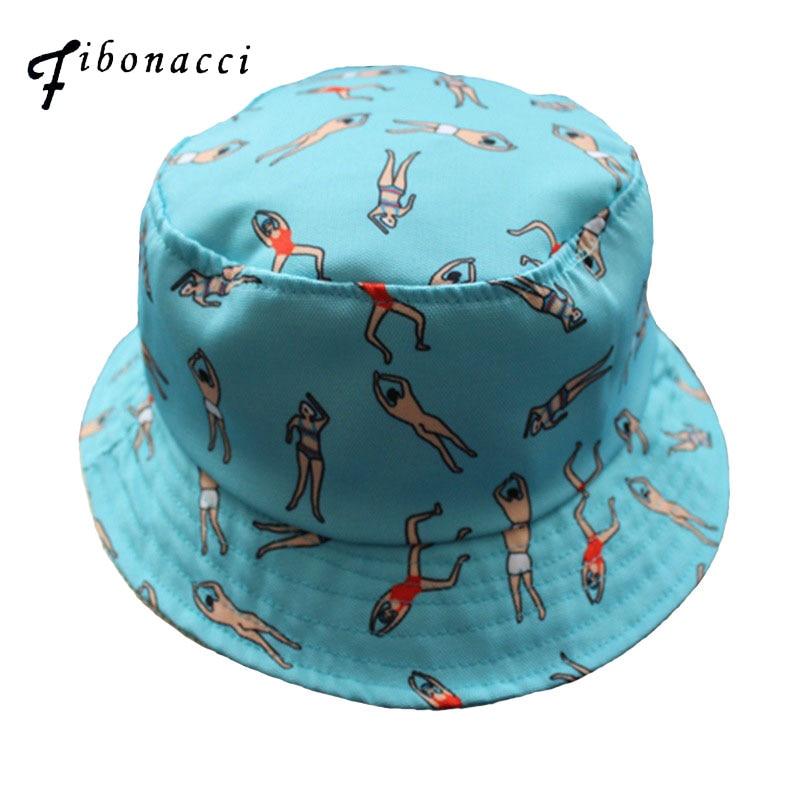 Fibonacci fishman caps cool chapeau homme flat panama lovely bucket hat for women bob po ...
