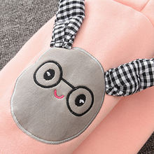 IYEAL Winter Baby Girls Boys Rompers Cute Bunny Hooded Ears Fleece Velvet Infant Clothing Children Newborn Clothes Warm Jumpsuit