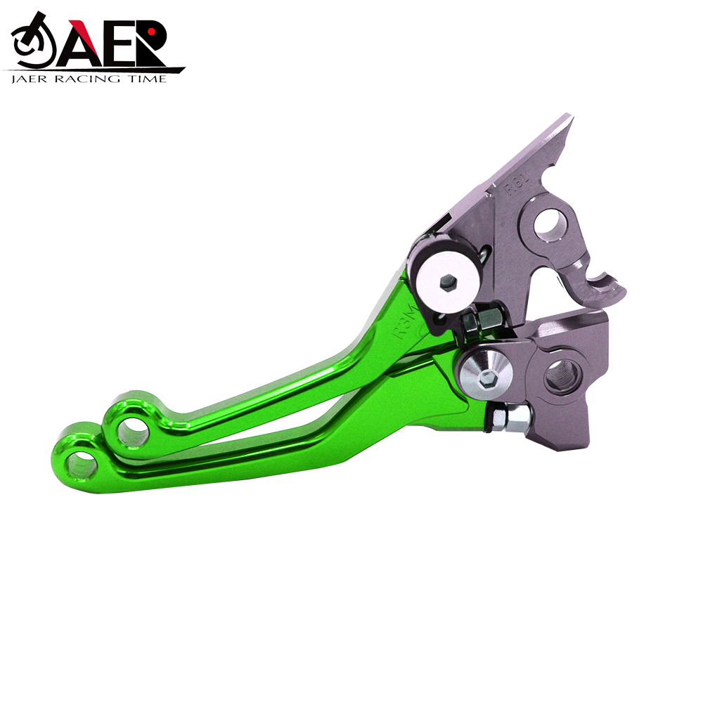 Image 2 - JAER CNC Aluminum Billet Pivot Foldable Brake Clutch Levers For Kawasaki KLX450R 2008 2009 2010 2011 2012 2013 2014 2015-in Levers, Ropes & Cables from Automobiles & Motorcycles