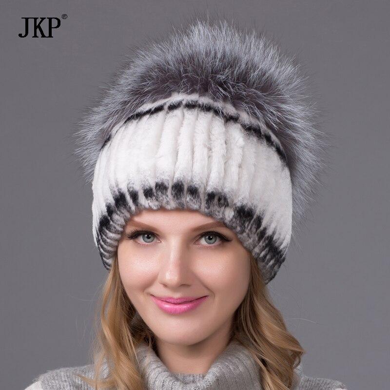 قبعة JKP الفرو الثعلب