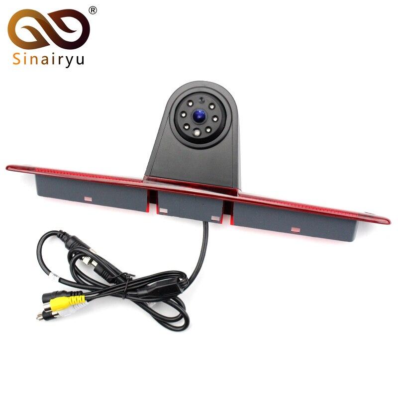 Sinairyu LED Brake Light CCD Reversing Backup Rear View Camera For Mercedes Benz W906 Sprinter Vito Volkswagen VW Crafter