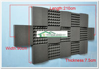 New special for HIFI home theater concert hall Wall Tiles Acoustical Studio Foam Absorbers17pcs/set 250*90*7.5cm acoustic foam