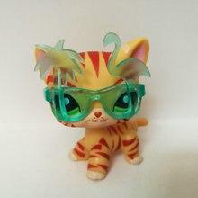 Pet Shop Animal naranja rayado gato de pelo corto figura de juguete del niño regalo CT105