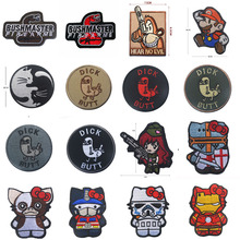Tactical Monkey Army Fan Tactical GUN GIRL Armband Embroidery Chapter Badge Badges for Clothes Patch Epaulette Armband Patches embroidery badge bounty hunter boba fett bantha skull new embroideried badges military tactical armband patch patches for jacket