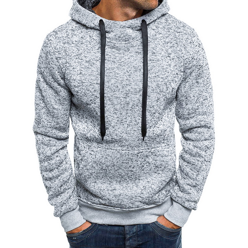 Men Casual Warm Sportswear Solid Hoodie Long Sleeve Tops Blouse Sweatshirt Autumn Casual Tracksuits Pullover