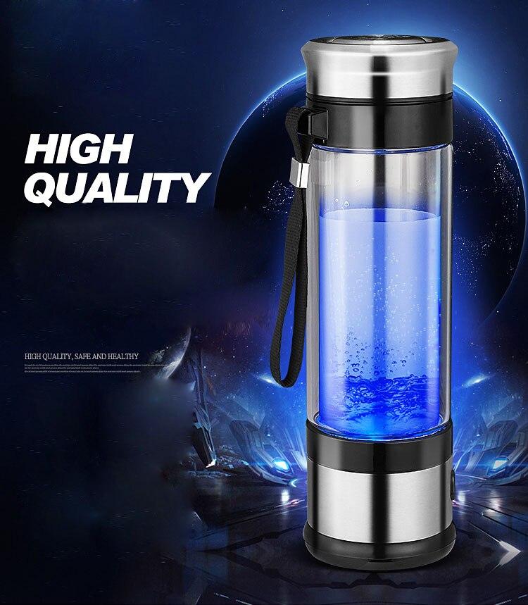 Przenośny generator wodoru jonizator dla czystej H2 bogate wodoru butelka wody elektroliza Hidrogen zdrowe Anti-Aging kubek 350ML