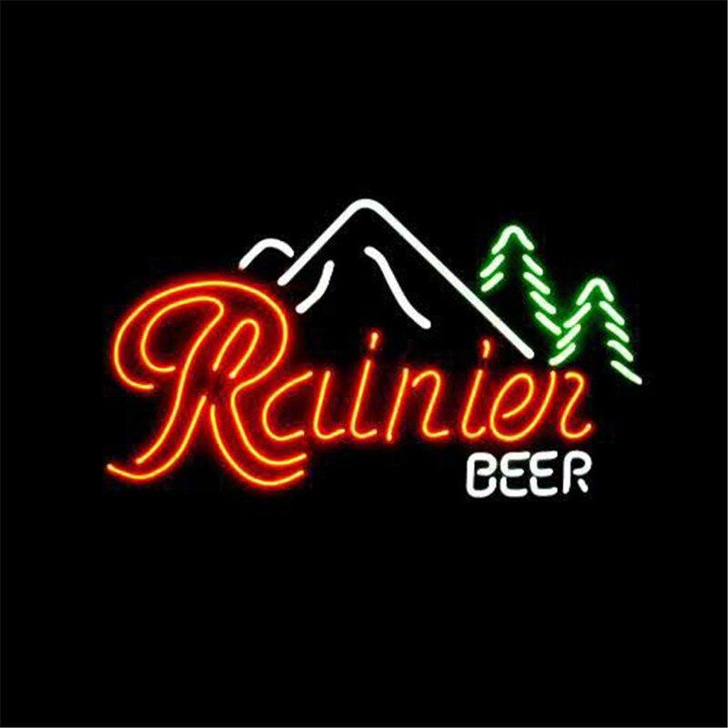 "17*14\"" RAINIER BEER NEON SIGN REAL GLASS BEER BAR PUB"