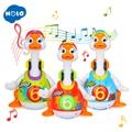 HOLA 828 детские игрушки электрические Hip Pop танец читать и кукольный театр и интерактивные качели Гусь обучения детей Обучающие игрушки, подар...
