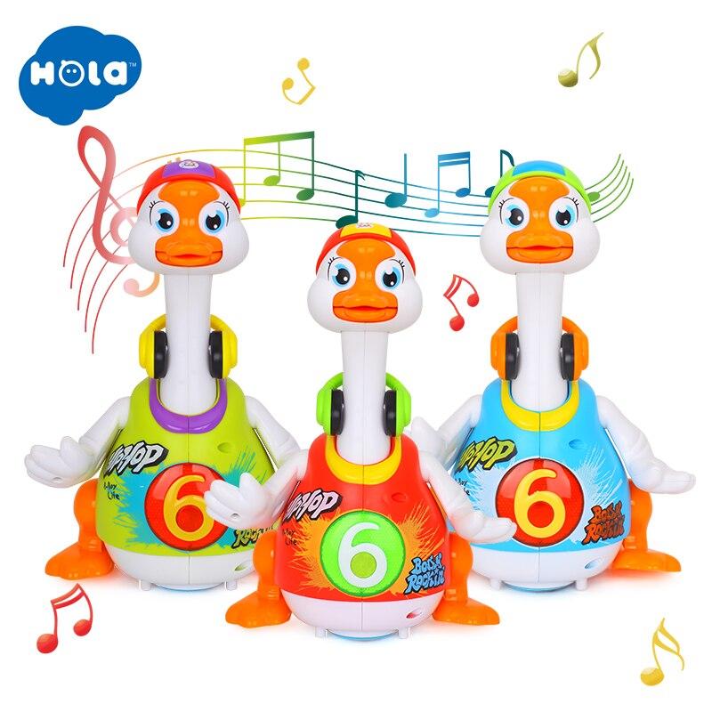 HOLA 828 juguetes de bebé eléctrico Hip Pop Dance leer y contar historia e interactiva Swing ganso niños aprendizaje juguetes educativos regalos