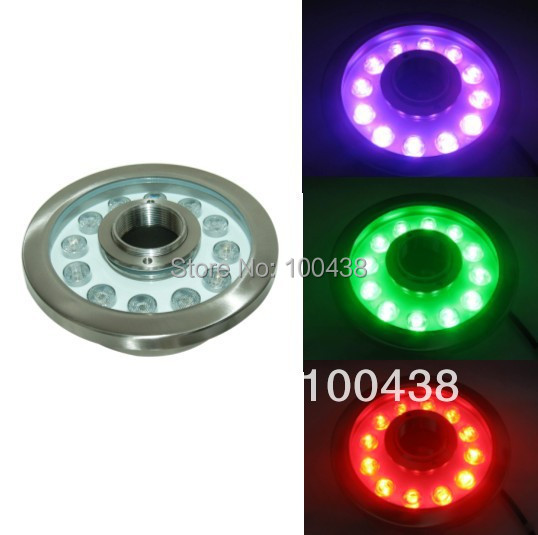 CE,good qualityIP68 36W LED RGB fountain light,LED RGB pool light,DS-10-38-36W-RGB,24V DC,12*3W RGB 3in1,2-year warranty ce ip68 good quality high power 27w rgb led pool light rgb led fountain light ds 10 31 27w rgb rgb tri chip 3in1 12v dc