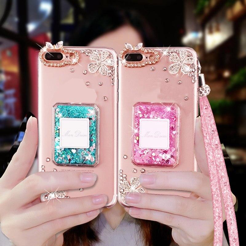 Nouvelle Fille Femme Lady Diamond Couverture + 3D Bling Glitter Strass Quicksand Téléphone Cas Pour Meizu m3/5 note/u10/pro 6/7/M5s/M3s/U20