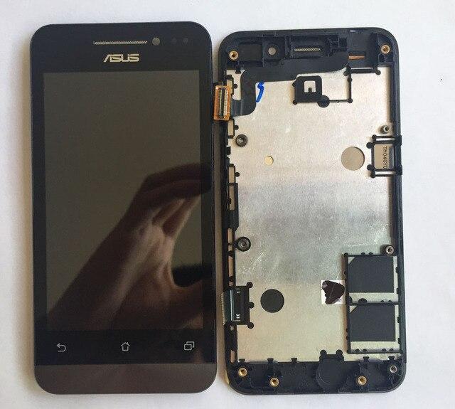 Бывших в употреблении деталей для Asus Zenfone 4 A400CG Экрана Панели ЖК-Дисплей + Дигитайзер Сенсорный Экран Стекла Ассамблея с Рамкой Замена