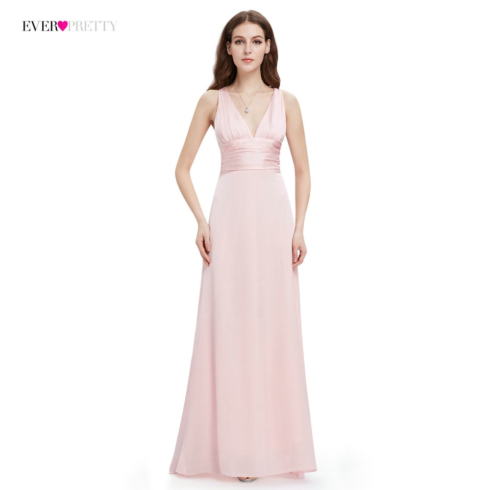 Evening Dress Ever Pretty EP09008 A-line Double V-neck Sleeveless Elegant Evening Dresses Long Formal Party Dresses For Women