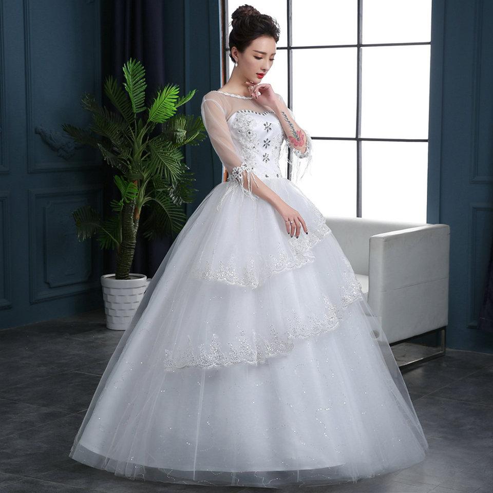 Aliexpress.com : Buy Unique Ivory Wedding Dresses Plus Size 2018 ...