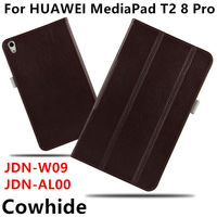 Case Cowhide For Huawei MediaPad T2 8Pro Genuine Smart Cover Leather Protective For HUAWEI Honor Tablet