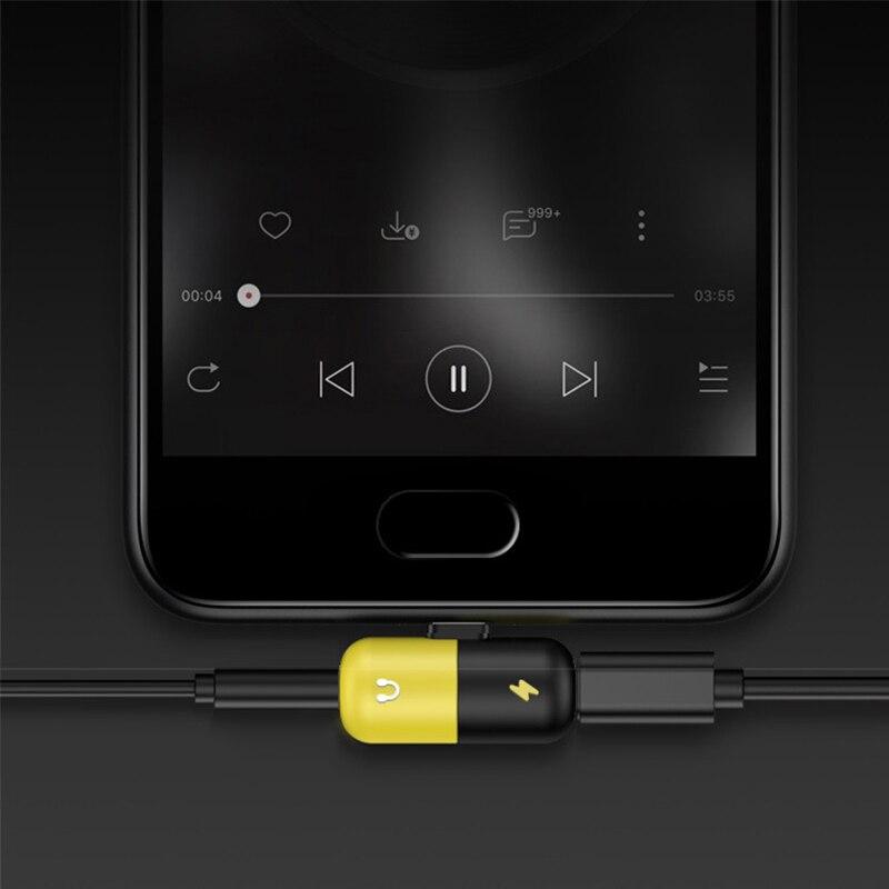 Image 5 - Симпатичная капсула мульти функциональный адаптер Музыка + QI Беспроводная зарядка 2 в 1 Type C 3.5mm lightning двойная молния для iPhone7/8/x Android-in Адаптер Type-C from Бытовая электроника