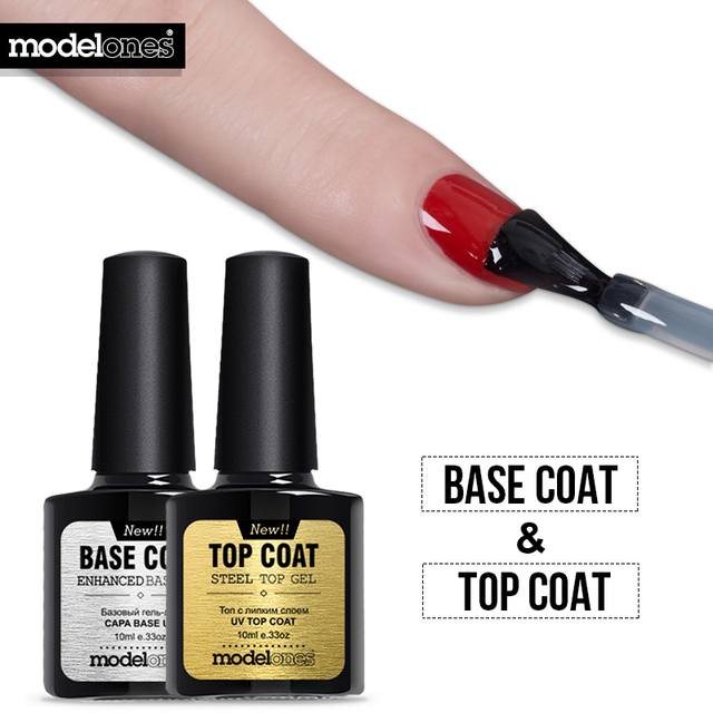 Modelones Brand New Diamond Nail Gel Top Coat + Base Coat Foundation ...