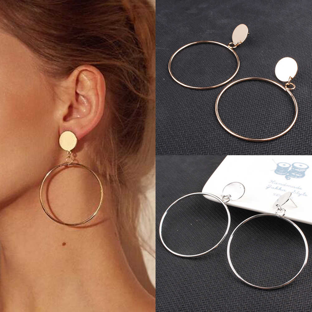 Fabala Style Jewelry Pendant Big Round Circle Earrings Geometric  #5