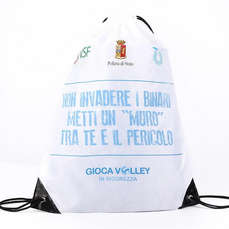 Drawstring Bag Sports Waterproof Backpack Bundle Pocket Custom Printing Logo