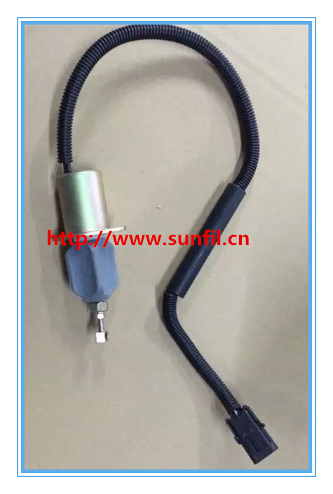 FUEL SHUT OFF SOLENOID engine solenoid 612600180175,24V fuel shut off solenoid valve coil 3964624 fits excavator engine