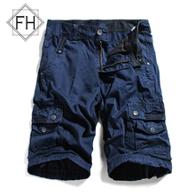 FUHAO Top Selling 2016 Summer Cargo Men Shorts Multi Pockets Solid Men Bermuda New Men's Casual Shorts Military, 3232