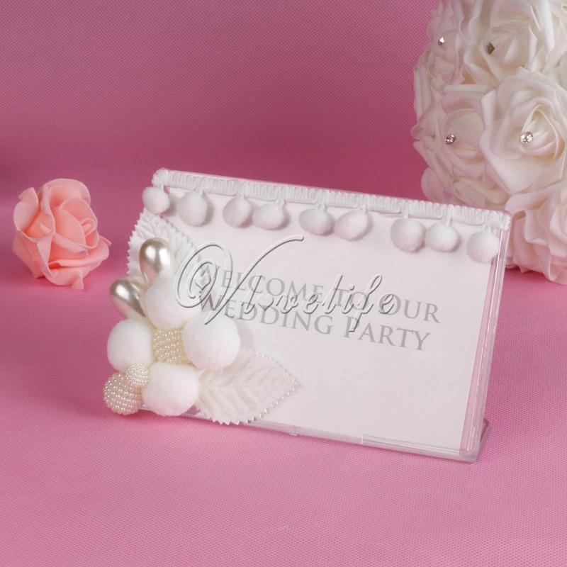 Acrylic Photo Frame Wedding Event Crystal Place Card Sign Wedding ...