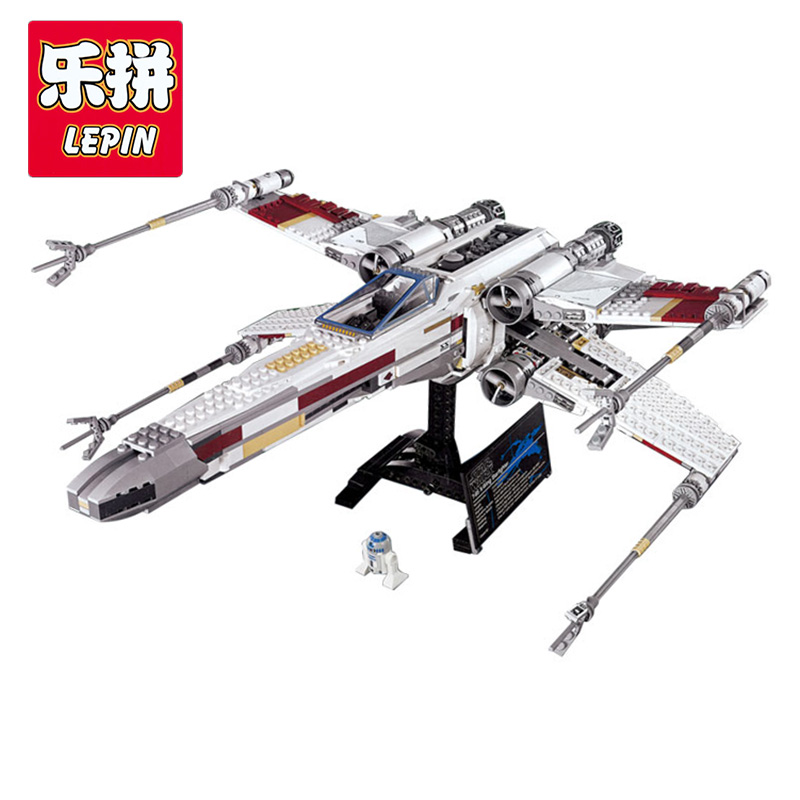 LEPIN 05039 Star series plan Red Five X-Wing Starfighter Model Building Blocks Compatible with Lego 10240 Children Toys 1616 Pcs lepin 05039 star wars red five x wing starfighter figure blocks construction building bricks toys for children compatible legoe