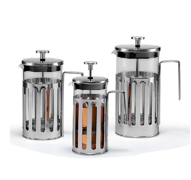 Europe Style Stainless Steel French Press Pot Creative Household High Grade Tea Pot Three Types Capacity Available Free Shipping