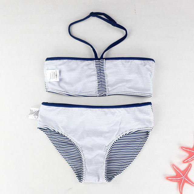 6-16Y Girls Two Pieces Swimsuit Children Split Bathing Suit 2018 New Girl Bikini Set Kids Swim Wear 2 Pieces Girls Biquini Suits