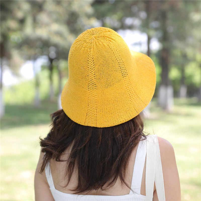 2019 kadın yaz yeni grafiti suluboya organze geniş vizör katlanabilir güneş koruma havzası kap kumaş örgü gazlı bez kadın şapka