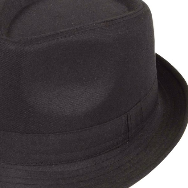 41df07c7cafd1 MAKE Hot Black Fedora Plain Hat Outfit accessory for Gangster Fancy Dress  on Aliexpress.com