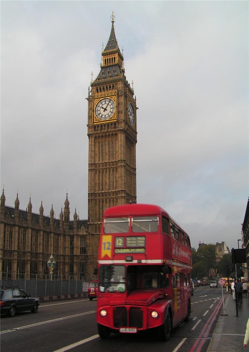 LONDON BUS CAB LANDMARKS Vintage Poster 30X21cm Photo Print Home Wall Art Decor