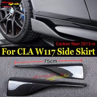 CLA W117 Side Skirts Splitters Flaps Winglets Carbon Fiber for Mercedes Benz CLA180 CLA200 CLA250 Side Bumper Extension Skirt E
