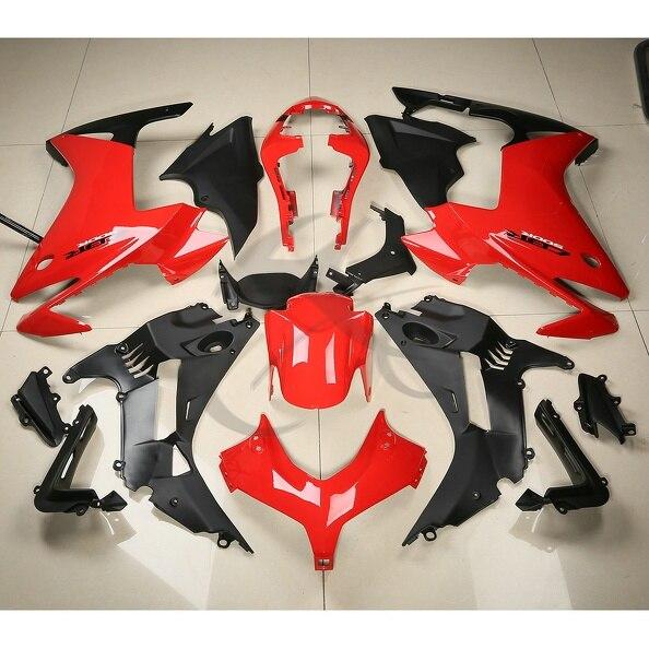ABS пластик Обтекателя комплект кузова Обтекателя для Honda CBR500R CBR с 500 р 13 14 Красная 3А