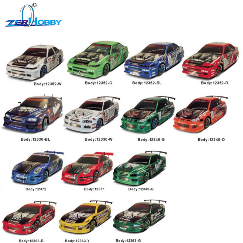 HSP RC CAR SPARE PARTS ACCESSORIES 1/10 SCALE ELECTRIC ON ROAD DRIFT CAR BODYSHELL VARIOUS COLORS