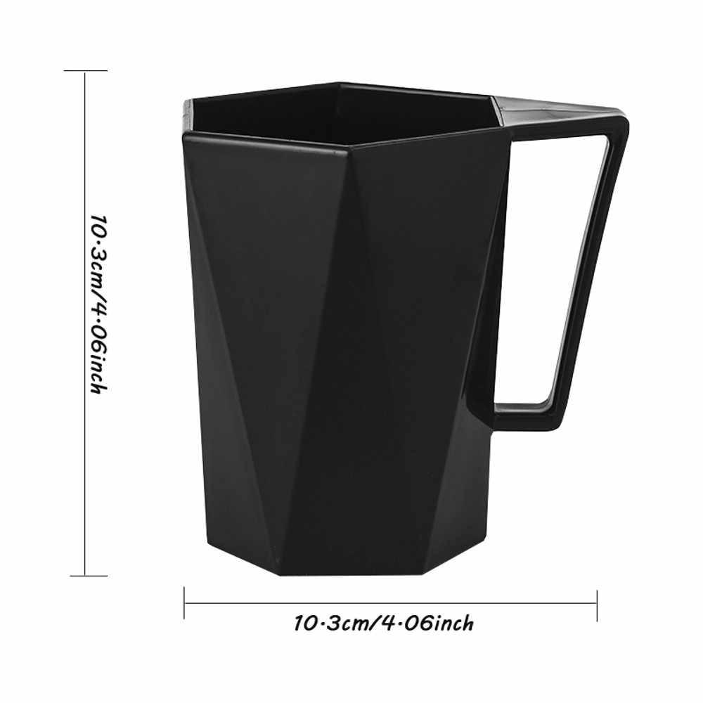 Novedad taza personalidad leche jugo limón taza café té vaso de plástico reutilizable