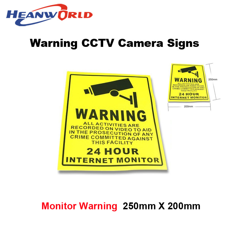 10pcs CCTV Security Surveillance Camera Warning Sticker Warning Lable Sign For Home/Shop/Factory Free Shipping