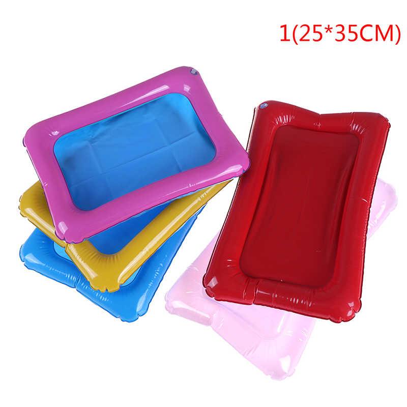 32x25 cm/45x32 cm Color aleatorio espacio Mars inflable PVC bandeja para arena con mesa móvil de plástico interior Magic Play arena juguetes para niños