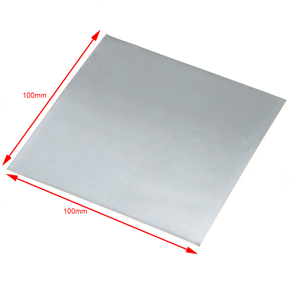 1Pcs High Purity Zinc Zn Sheet Plate 100*100*0.2mm Bluish-white Metal Color For Science Lab Accessories For Industry Tools
