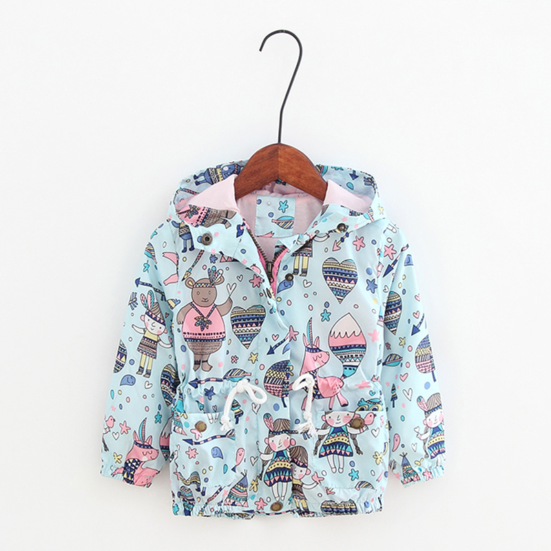 New Arrival Autumn Children Coats With Hat Blue Print Cartoon Graffiti Baby Girl Windbreaker Heart Cute Toddler Outwear ClothingNew Arrival Autumn Children Coats With Hat Blue Print Cartoon Graffiti Baby Girl Windbreaker Heart Cute Toddler Outwear Clothing