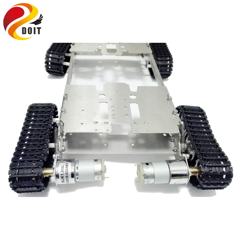 Tank Chassis Crawler 4WD smart Tank Car Chassis for DIY Toy Mobile Platform Mounting Interface for Servo Robot Arm