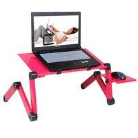 Portable Folding Laptop Desk Adjustable Computer Standing Desk Multi Functional Lapdesk Notebook Holder For Bed Sofa