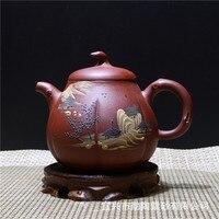 300 ملليلتر wholsale ييشينغ حقيقي اليدوية الأرجواني الطين اليقطين الإبداعي الصينية الكونغ فو zisha الشاي وعاء هدية مربع الشحن مجانا|box free|box shippingbox box -