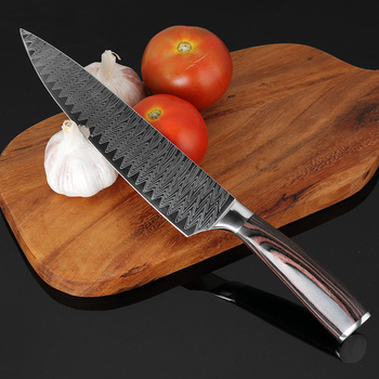 xituo 2018 new damascus knife 8 inch professional chef knife 67 layer japanese damascus steel vg 10 blade kitchen knives forging XITUO 8inch Chef Knife Professional Kitchen Knife Japanese Damascus Pattern  Stainless Steel Meat Santoku Knife  Gift